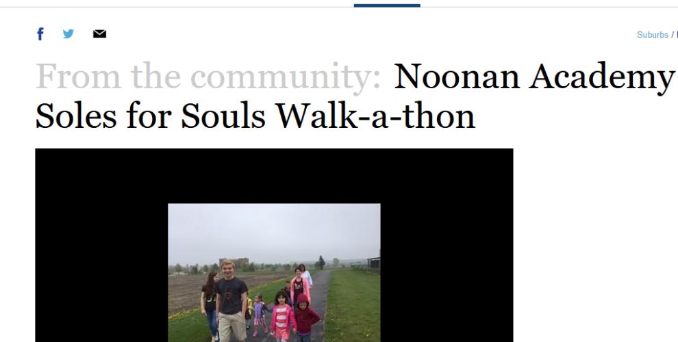 Noonan Academy Soles for Souls Walk-a-thon